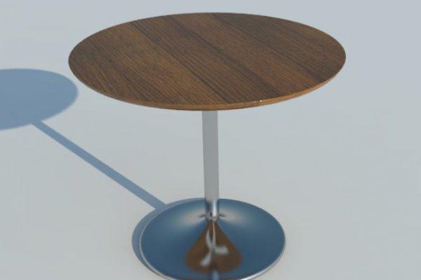CHROME LEG ROUND TABLE